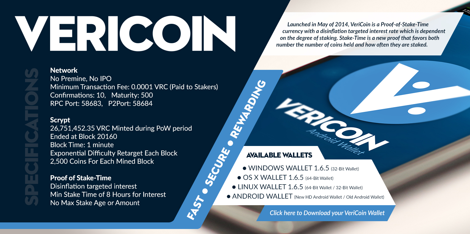 Vericoin cryptocurrency
